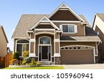 new beautiful suburban luxury... | Shutterstock . vector #105960941