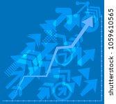 success arrows  vector.... | Shutterstock .eps vector #1059610565