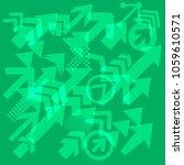 success arrows  vector.... | Shutterstock .eps vector #1059610571