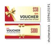 gift voucher for business... | Shutterstock .eps vector #1059615191