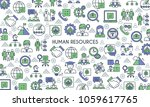 business management and human... | Shutterstock .eps vector #1059617765