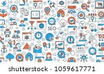 search engine optimisation and... | Shutterstock .eps vector #1059617771