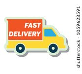 delivery concept  free  fast ... | Shutterstock .eps vector #1059623591