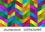 abstract 3d colorful wave... | Shutterstock .eps vector #1059626489