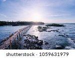beautiful landscape. sunset on... | Shutterstock . vector #1059631979