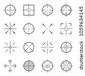 unusual bullseye  accurate... | Shutterstock .eps vector #1059634145