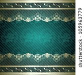 Lacy Design With Dark Green...