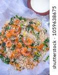 Small photo of Fried rice with kari and shrimp with buffalo kurt