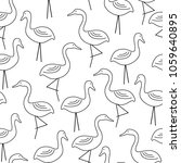 seamless pattern with doodle... | Shutterstock .eps vector #1059640895