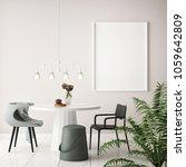mock up poster frame in... | Shutterstock . vector #1059642809