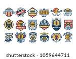 college rugby team logo design...   Shutterstock .eps vector #1059644711