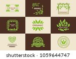 organic product logo template... | Shutterstock .eps vector #1059644747