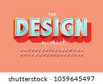 vector of stylized bold font... | Shutterstock .eps vector #1059645497