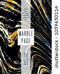trendy marble cover design for... | Shutterstock .eps vector #1059650114