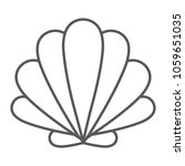 seashell thin line icon  animal ... | Shutterstock .eps vector #1059651035