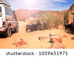 expeditionary suv rides near... | Shutterstock . vector #1059651971