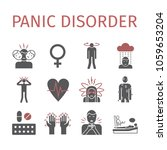 panic disorder icon infographic.... | Shutterstock .eps vector #1059653204