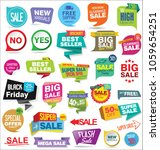 set of modern sale stickers | Shutterstock .eps vector #1059654251