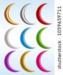 set of colorful crescents  eps... | Shutterstock .eps vector #1059659711