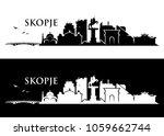 skopje skyline   republic of... | Shutterstock .eps vector #1059662744