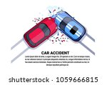 car accident top view vehicle... | Shutterstock .eps vector #1059666815