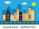 city icon vector symbol sign... | Shutterstock .eps vector #1059667241