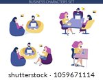 business character scene.... | Shutterstock .eps vector #1059671114