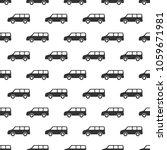 seamless pattern. car doodles... | Shutterstock .eps vector #1059671981