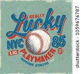 baseball. college tee print... | Shutterstock .eps vector #1059676787