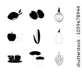 icon fruits and vegetables with ... | Shutterstock .eps vector #1059678944