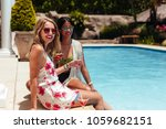 portrait of two beautiful women ...   Shutterstock . vector #1059682151