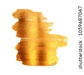 golden painted brush texture.... | Shutterstock . vector #1059687047
