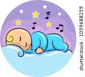 illustration of a baby sleeping ... | Shutterstock .eps vector #1059688259