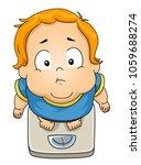 illustration of a fat kid boy... | Shutterstock .eps vector #1059688274