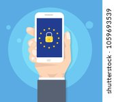 general data protection... | Shutterstock .eps vector #1059693539