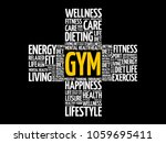 gym cross word cloud collage ...   Shutterstock .eps vector #1059695411