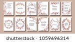 a set of greeting cards with... | Shutterstock .eps vector #1059696314
