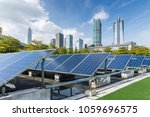 solar and modern city skyline   | Shutterstock . vector #1059696575