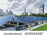 solar and modern city skyline   | Shutterstock . vector #1059696587