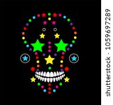 skull icon abstract colorful...   Shutterstock .eps vector #1059697289