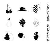 icon fruits and vegetables with ... | Shutterstock .eps vector #1059697364