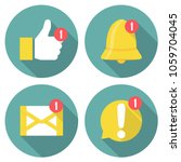 set of notification icons in a... | Shutterstock .eps vector #1059704045