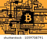 bitcoin cryptocurrency digital... | Shutterstock .eps vector #1059708791
