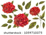 watercolor and mixed media set... | Shutterstock . vector #1059710375