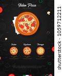 pizza food menu for restaurant... | Shutterstock .eps vector #1059712211
