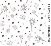 vector magic seamless pattern... | Shutterstock .eps vector #1059713561