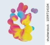 generative colorful 3d rendered ...   Shutterstock . vector #1059714104