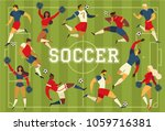 football soccer players... | Shutterstock .eps vector #1059716381