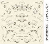 vector set of decorative... | Shutterstock .eps vector #1059716474
