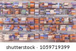 container ship in export and... | Shutterstock . vector #1059719399